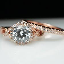 large diamond rings halo diamond engagement ring wedding band set infiniti