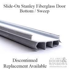 Door Bottom Sweeps For Exterior Doors Fiberglass Door Bottom Sweep Slide On