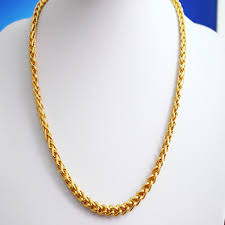 golden chain necklace men images Plated gold necklace men domineering simulation of 24k gold chain jpg