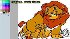 lion king online coloring pages mufasa and young simba 113