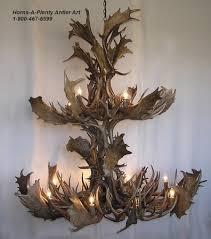 Deer Antler Light Fixtures Ant Fd342 Antler Chandelier With Uplights