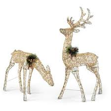 trimming traditions 5 250 light gold glitter deer