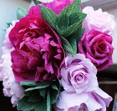 Peonies Bouquet Peonies Crepe Paper Peonies Wedding Peonies Roses Bridal