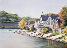 Boat House Row - boathouse row regatta day by victoria mcneil levine artwork archive