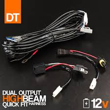 high current dtp plug and play quick fit to high beam wiring harness