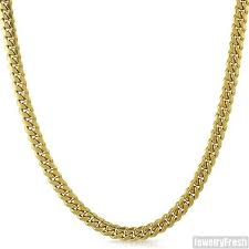 gold dipped 5mm 14k gold dipped 925 silver miami cuban chain jewelryfresh