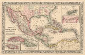 Caribbean Maps by Map Of Mexico Central America U0026 Caribbean Hjbmaps Com U2013 Hjbmaps