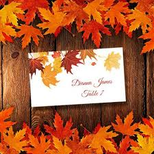 printable place cards template falling leaves avery 5302
