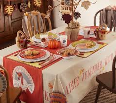 thanksgiving tablecloth pottery barn