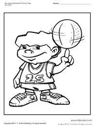 Boy Spinning A Basketball Coloring Page Basketball Color Page