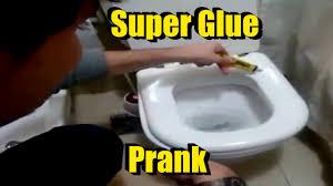 epic super glue prank glue on toilet seat practical joke youtube