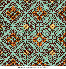 seamless pattern kazakh ornament pattern fabric stock vector