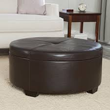 decoration round leather ottoman coffee table designs idea