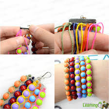 thread bead bracelet images Bangle making tutorial how to make beaded bangle bracelets with jpg