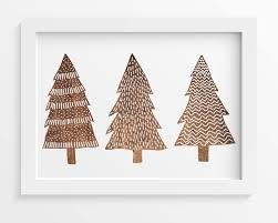 christmas tree print rustic wood christmas wall art