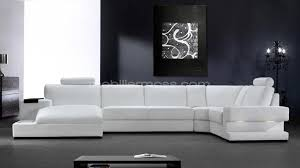 canapé design blanc photos canapé d angle cuir blanc design
