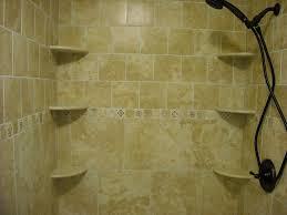 tile shower with corner shelves popular ideas bathroom remodel