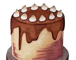 cake art print etsy