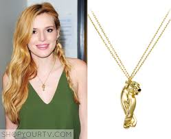 animal gold necklace images The boris and nicole show bella thorne 39 s gold animal necklace png