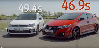 new golf gti clubsport humiliated by civic type r in lap battle