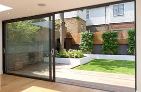 Sliding Door Patio Simple Landscaped City Garden With Large Sliding Doors At The End
