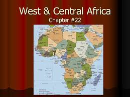 africa map landforms west central africa chapter 22 i environments a