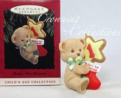 1993 hallmark baby u0027s first christmas keepsake ornament my