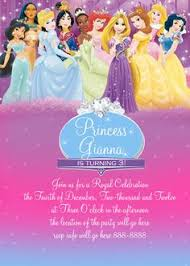 disney princess invitation via etsy invitations by bloominkards