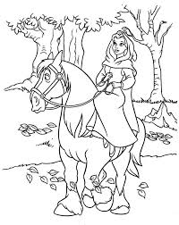 horse coloring pages riding horses princess belle