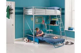 High Sleeper With Futon And Desk Home Sit N Sleep Metal High Sleeper Bed Frame Blue Futon This