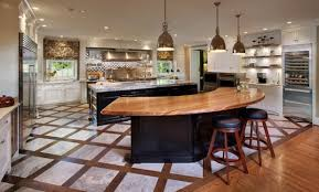 curved kitchen island curved kitchen island with wooden design also wood counter