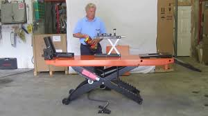 motorcycle lift table for sale current pro 1200 motorcycle lift sales through june 30 2013 youtube