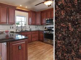 what color countertops look with brown cabinets what countertop color looks best with cherry cabinets