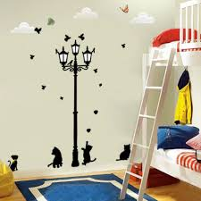 ancient lamp cats and birds wall sticker wall mural home decor