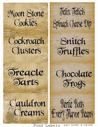 harry potter food u0026drink labels pdf holidays pinterest harry