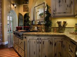 distressed kitchen cabinets in white