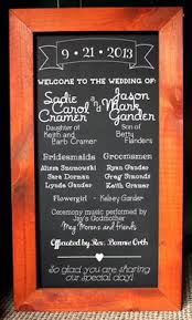 Wedding Program Chalkboard 15 Ways To Use Chalk In Weddings