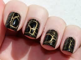 black and gold marble nail art nailart nailinspiration nails