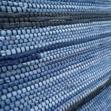 Denim Rag Rug Weven Met Oude Jeans Wol Enzo Pinterest