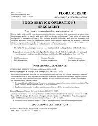 food service resumes sle resumes resumewriting