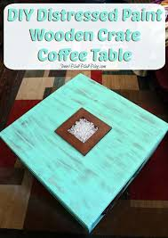 Diy Wood Crate Coffee Table by Distressed Wood Crate Coffee Table