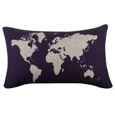 Decorative World Map World Map Decorative Pillow The Travel Shop