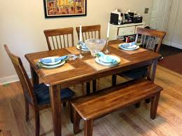 bench ashley furniture dining table with bench dining tables