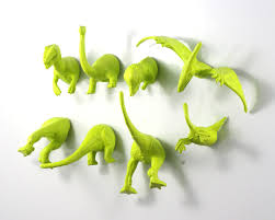 Dinosaur Bathroom Decor by Dinosaur Magnets 8 Piece Set In Chartreuse Apple Green