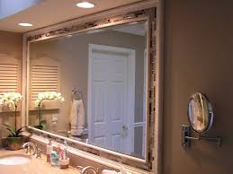 bathroom awesome wooden frame bathroom mirror ideas with twin