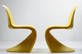 chaises jaunes verner panton pour vitra deux chaises panton jaunes catawiki
