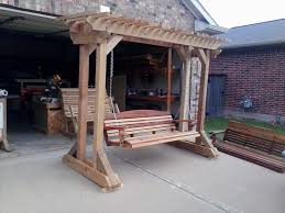stand alone porch swing plans