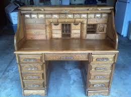 Old Roll Top Desk Rare Wells Fargo Roll Top Desk Vintage 2 Secret Compartments