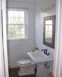 gret ideas when creating small half bathroom very ideas rectangle very small half bathroom ideas rectangle black wooden wall mount mirror arc stainless steel faucet modern black wooden cabinets 2 handle widespread lavatory
