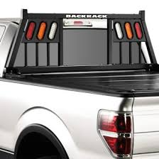 headache rack with light bar truck headache racks louvers mesh ladder rack light mounts